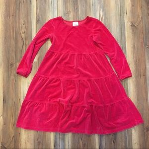 Hanna Anderson Dress Red Long Sleeve Red velvety